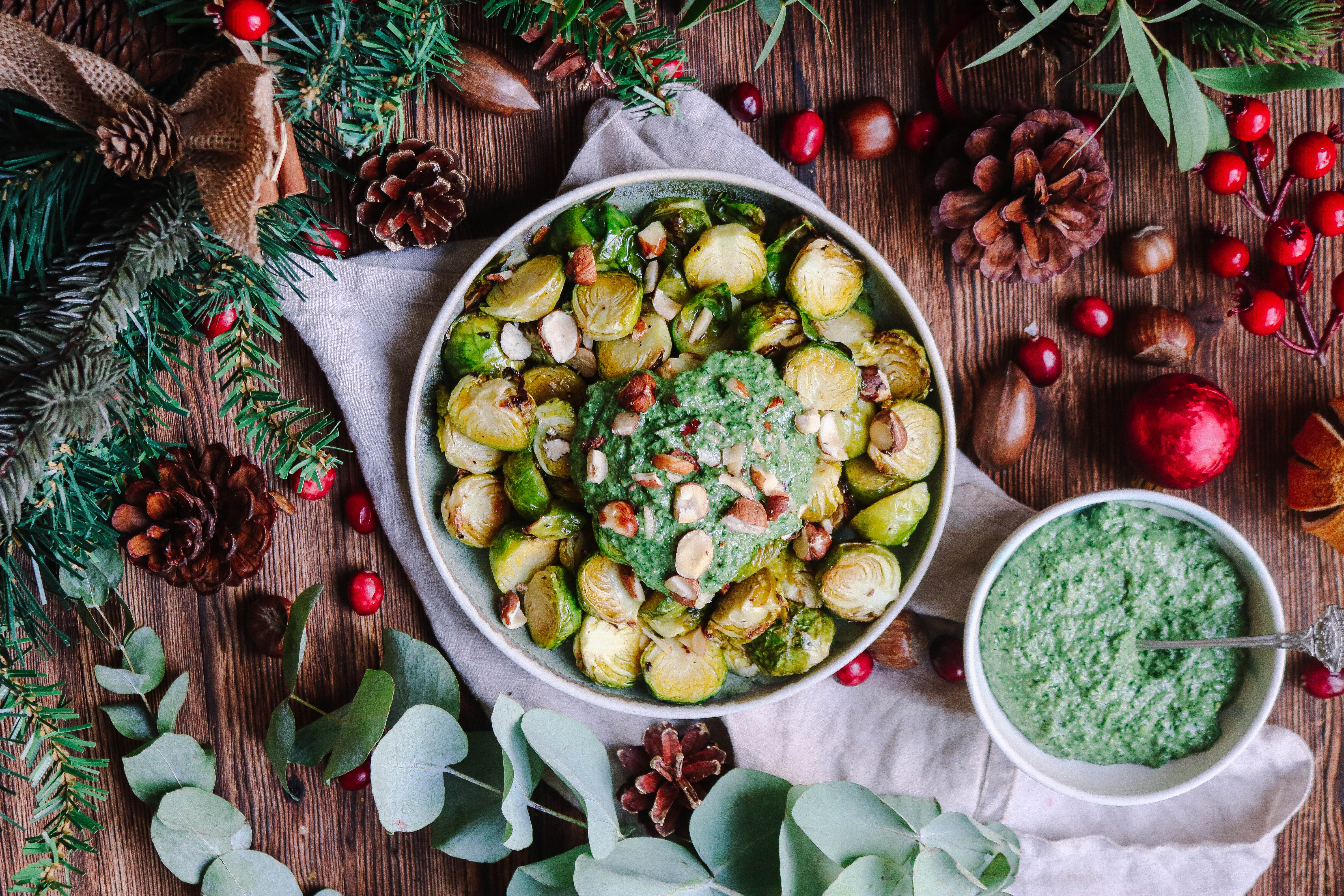 Green Goddess Pesto Brussel Sprouts
