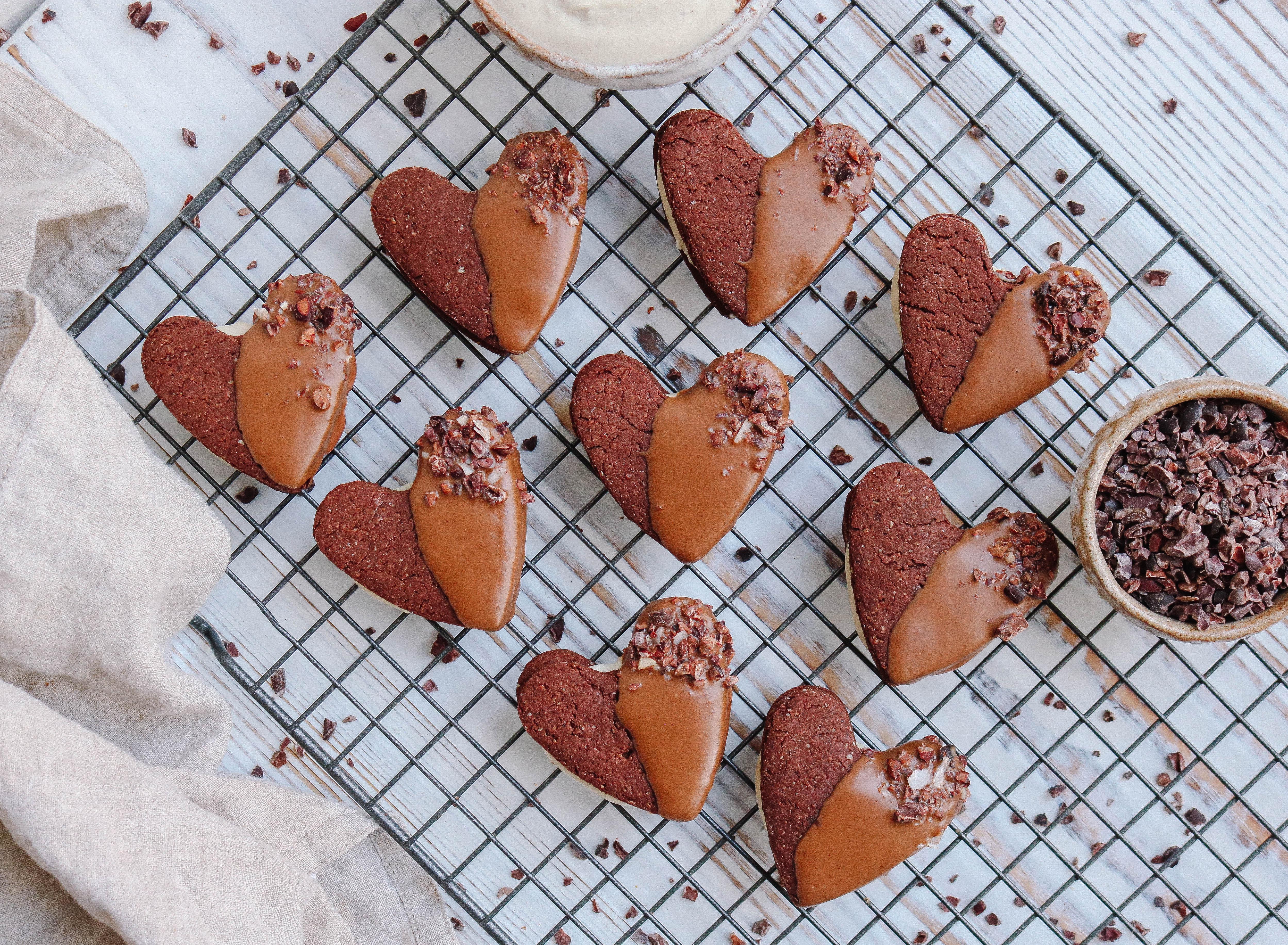 Double Chocolate & Vanilla Cream Sandwich Cookies