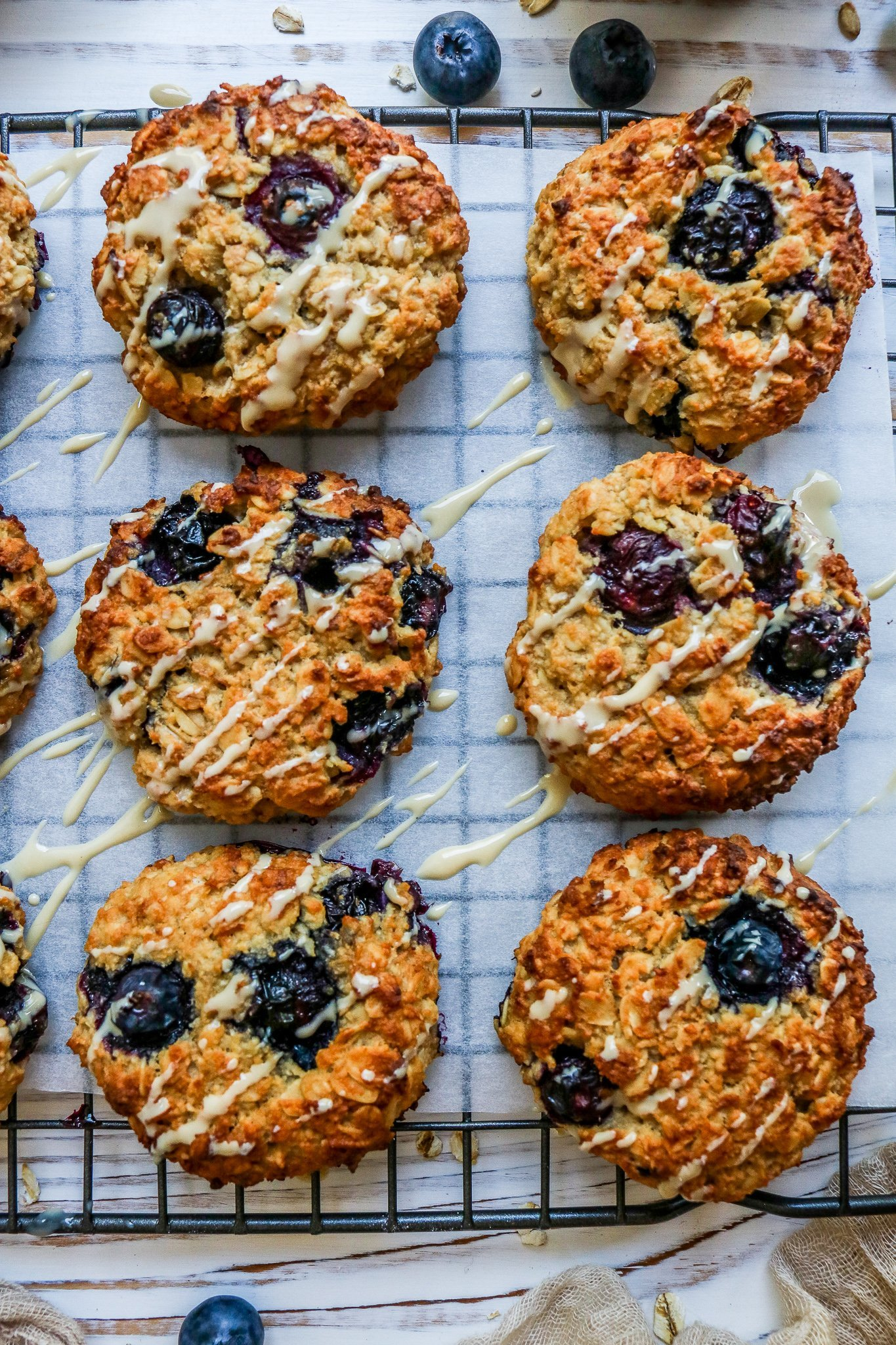 Blueberry & Oat Breakfast Cookies