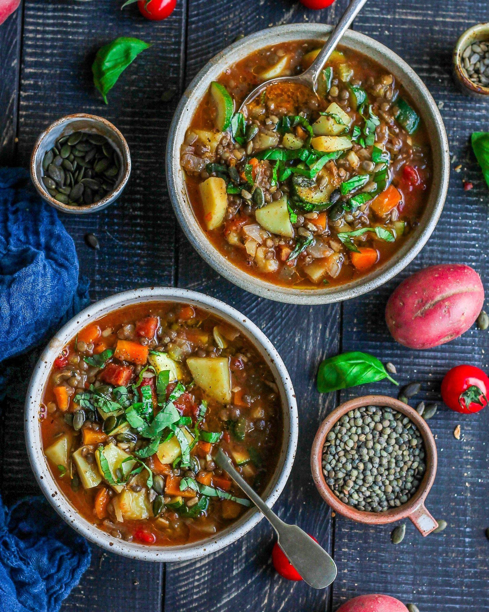 Veggie Packed Lentil Soup