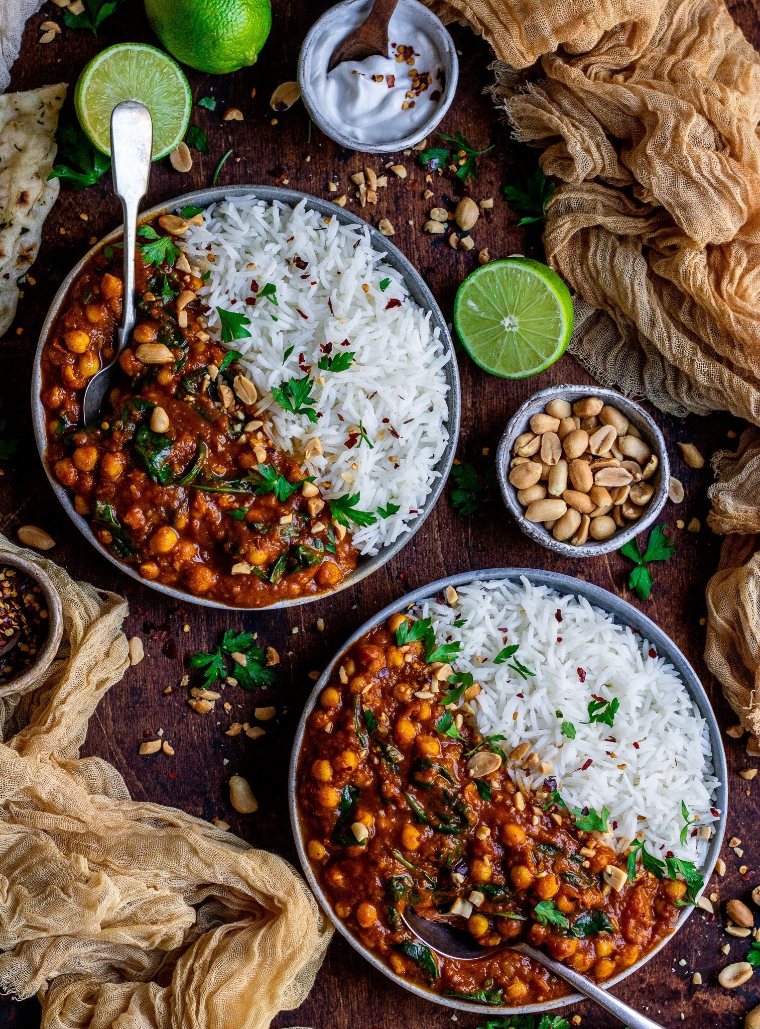 Chickpea Tomato & Spinach Curry