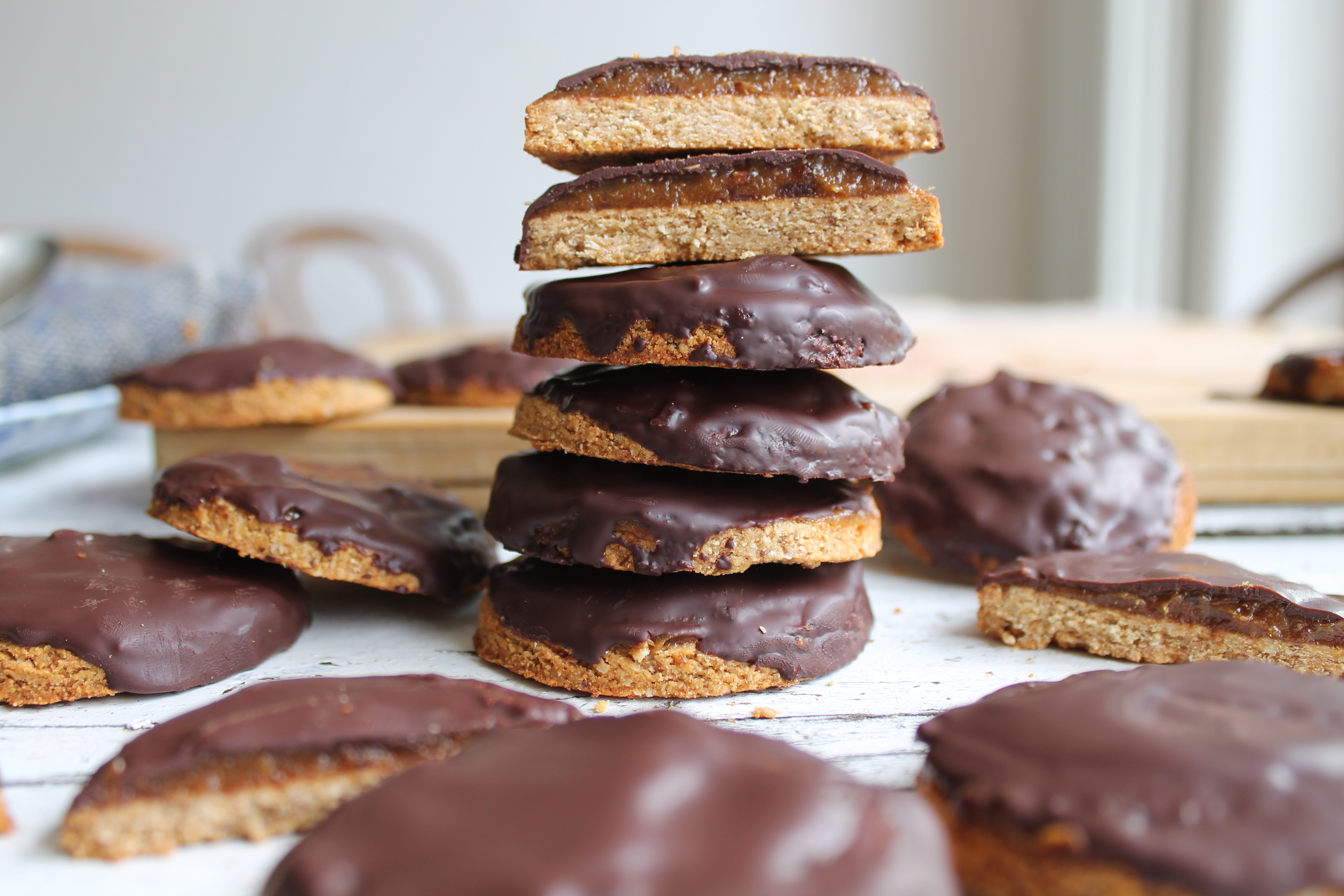 Healthy Caramel Digestive Biscuits
