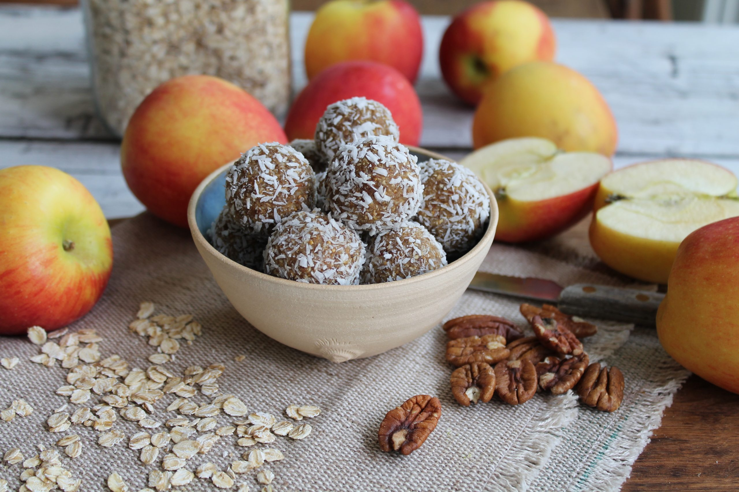 Apple and Coconut Bliss Balls