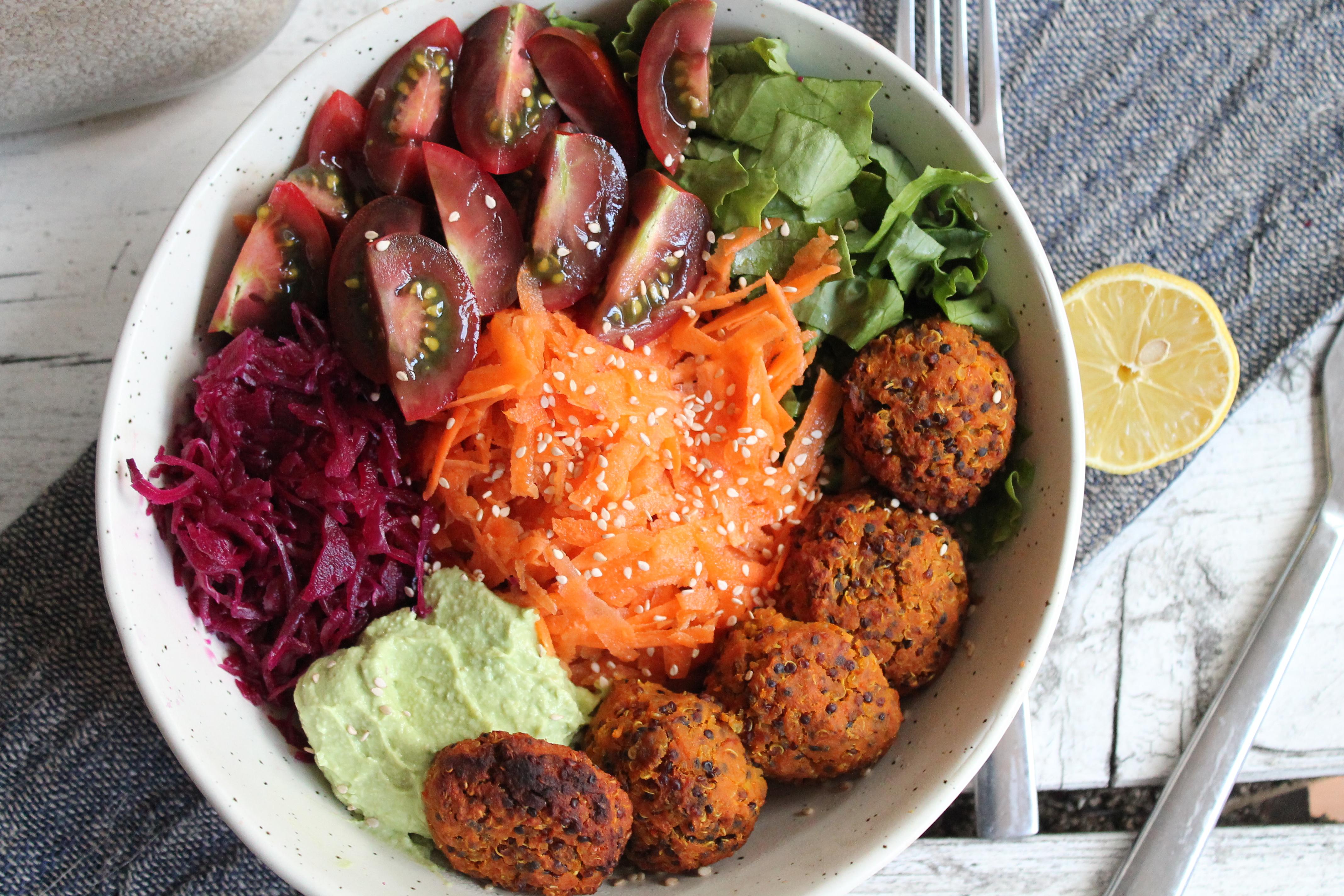 Sweet Potatoes and Quinoa Falafel