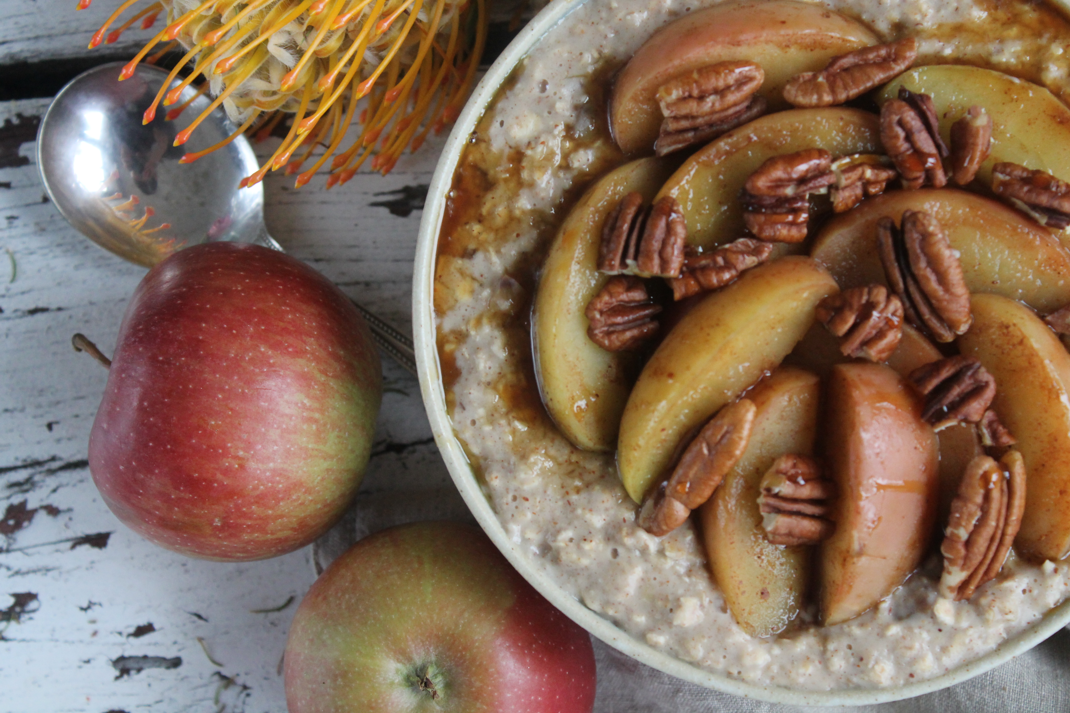 Chestnut and Apple Spiced Porridge