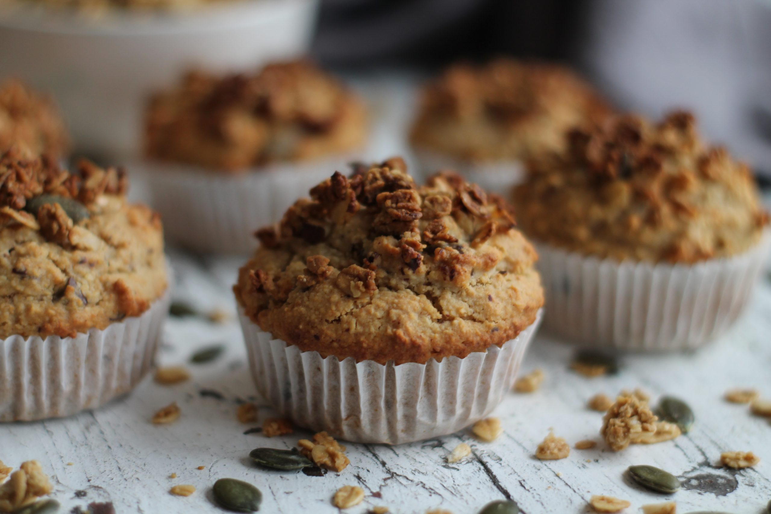 Granola Chocolate Chip Muffins