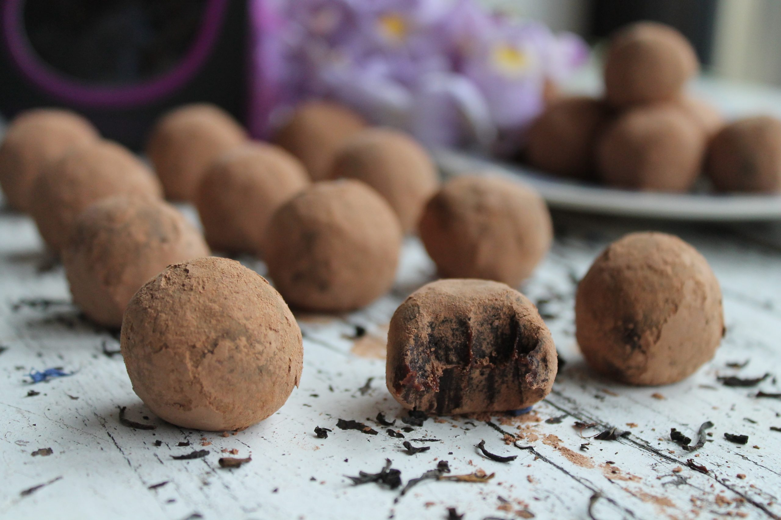 Earl Grey and Chocolate Raw Truffles