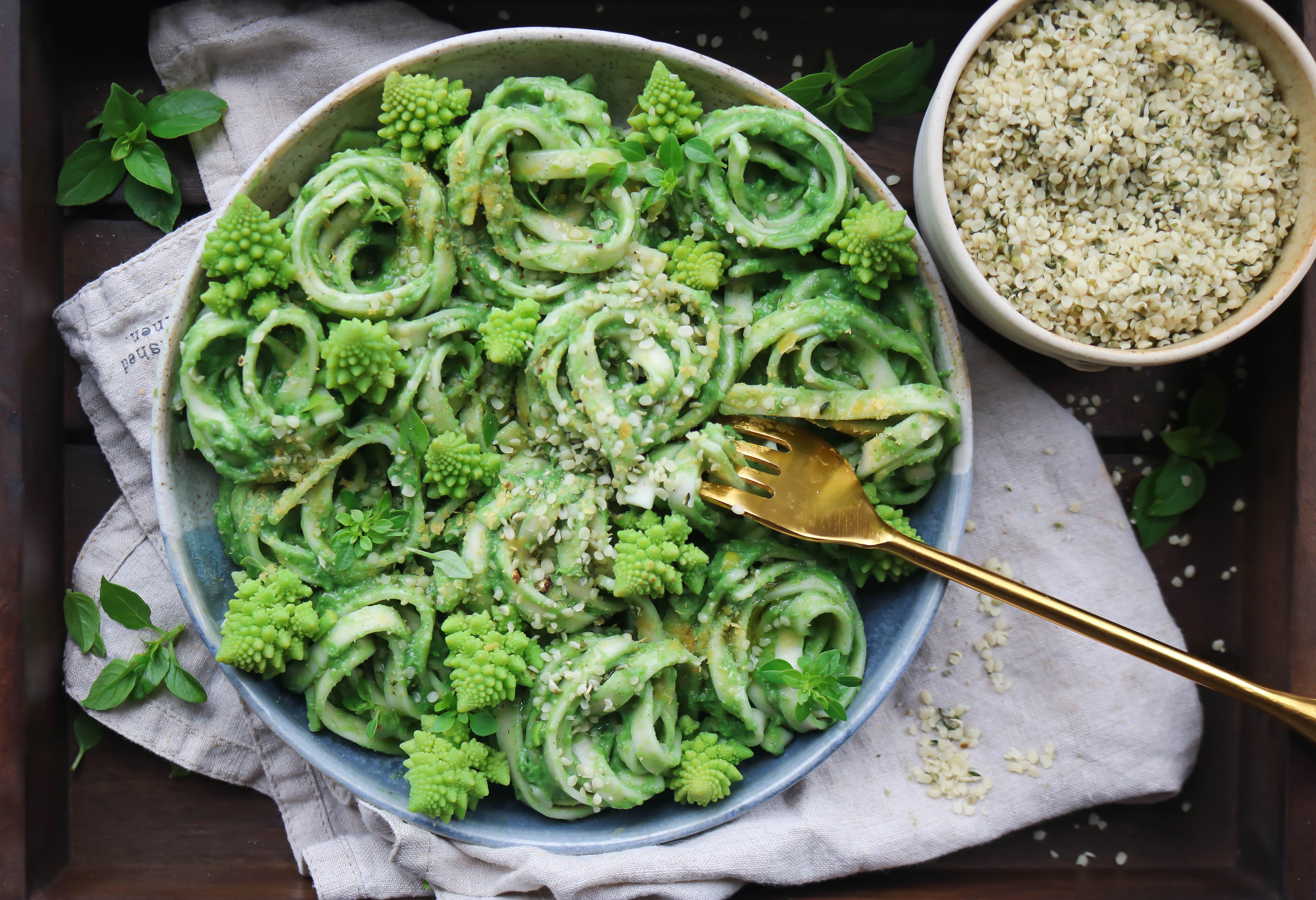 Pea and Avocado Super Green Pasta