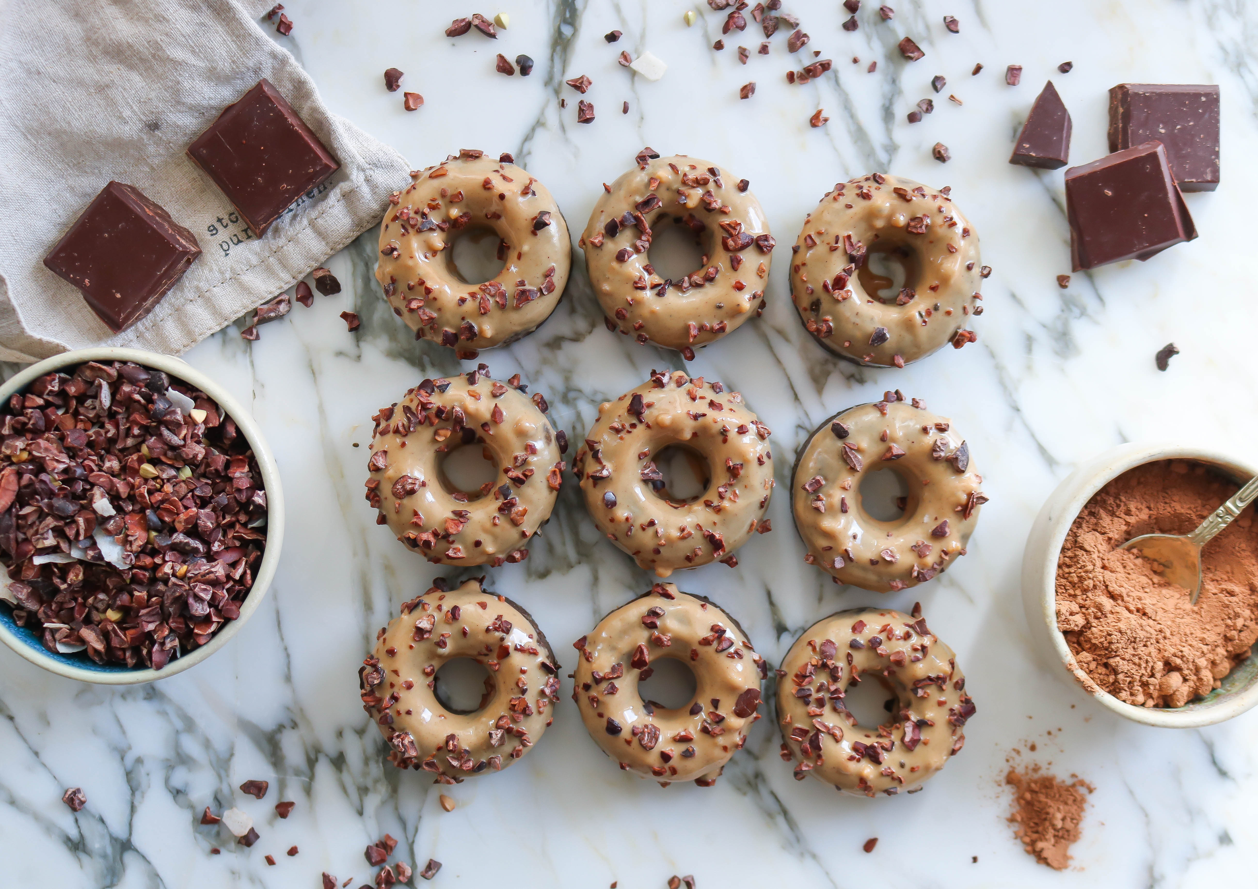 Raw Double Chocolate Donuts