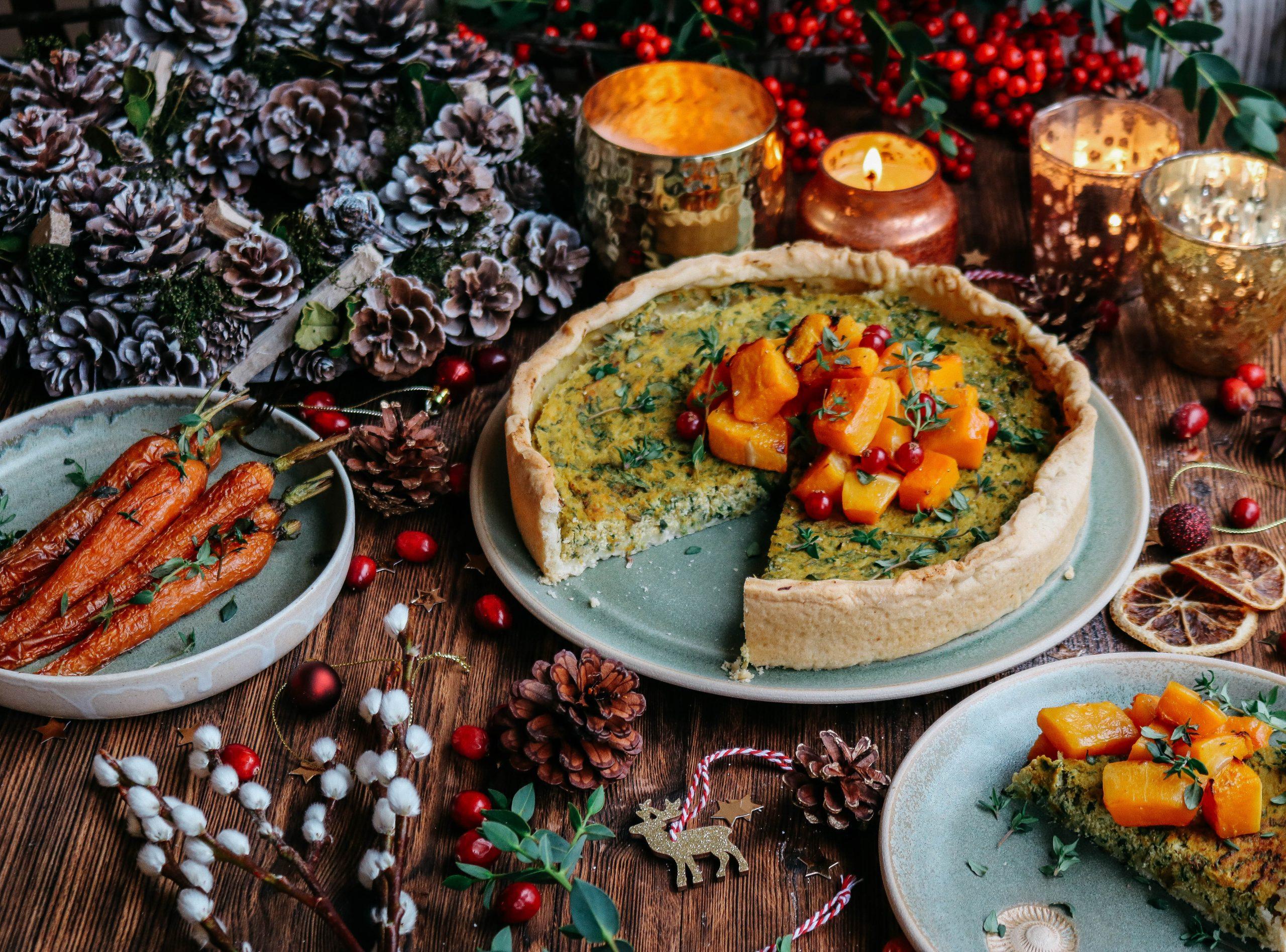Butternut & Spinach Festive Tart