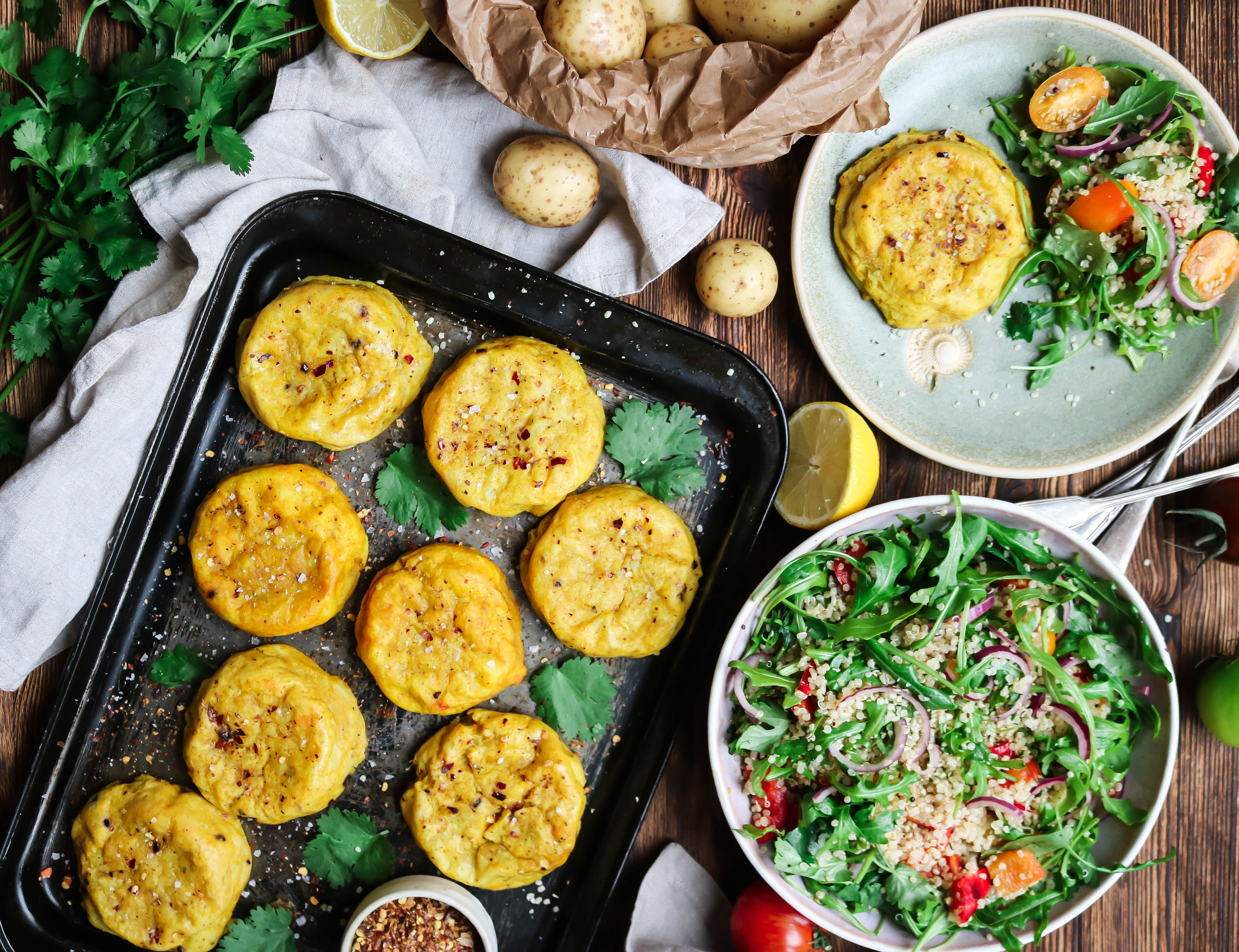 Curried Potato Cakes