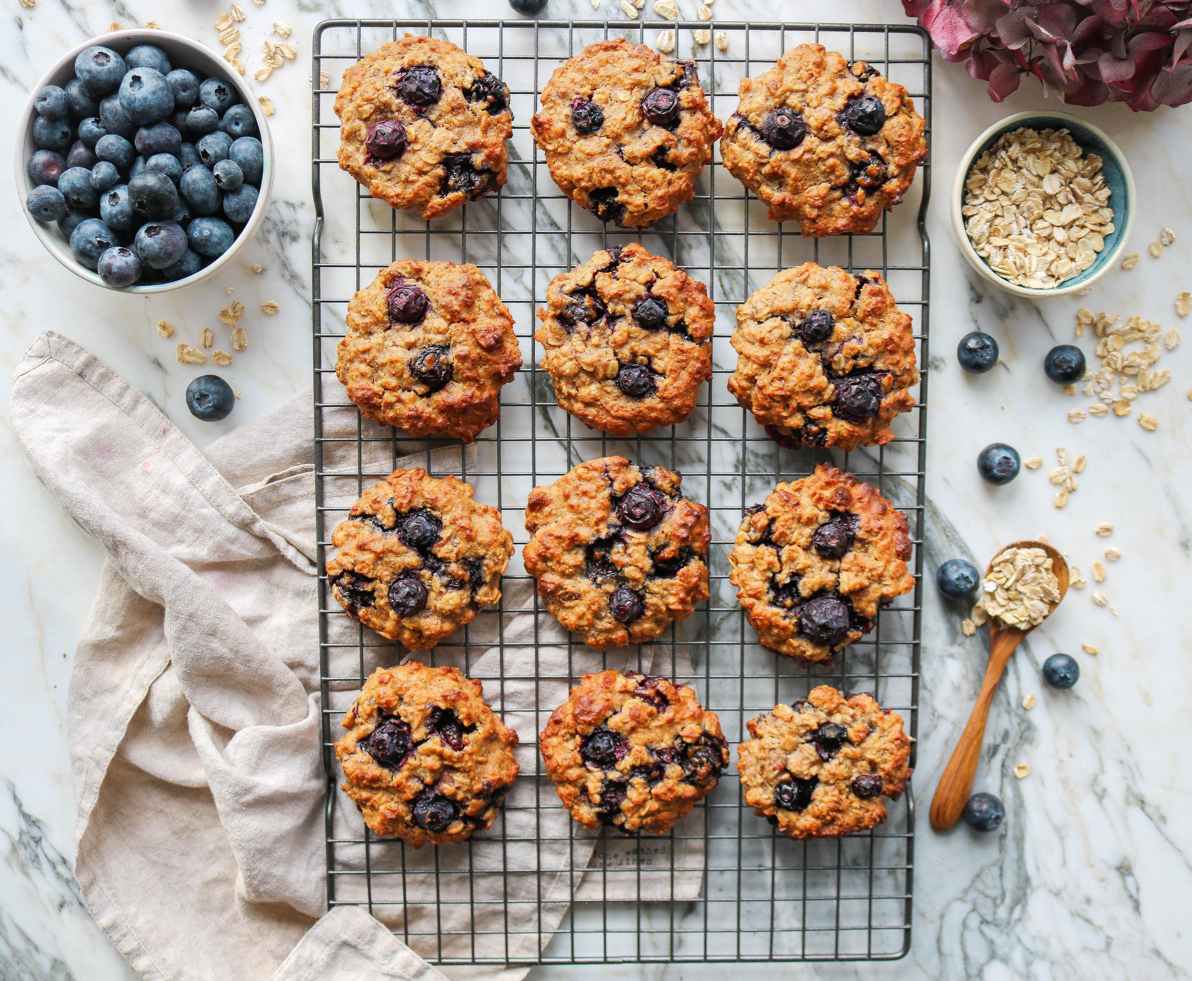 Blueberry & Hazelnut Oat Cookies