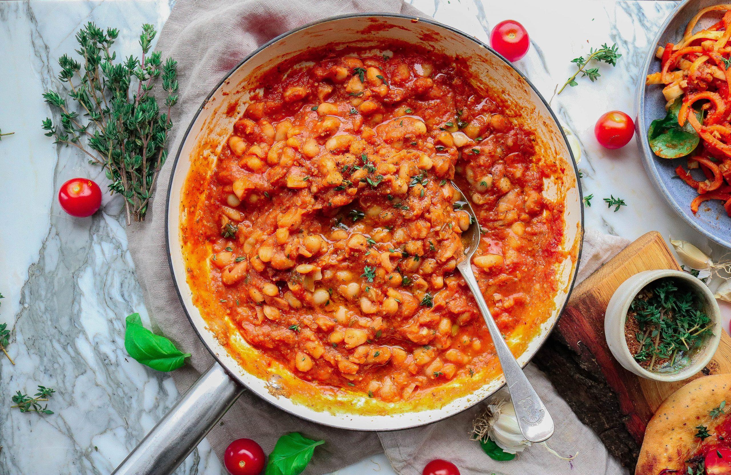 Creamy Tomato Cannelini Beans