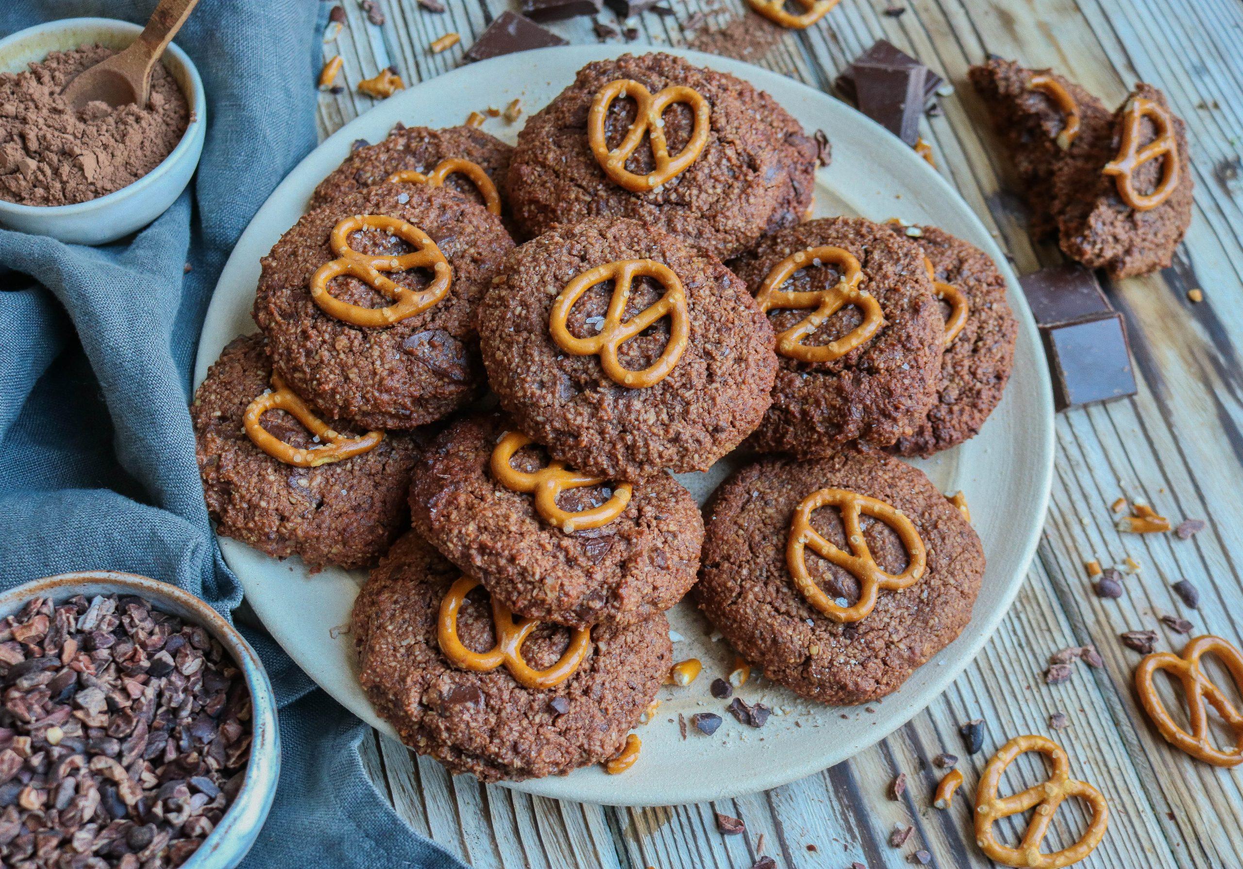 Double Chocolate Pretzel Cookies