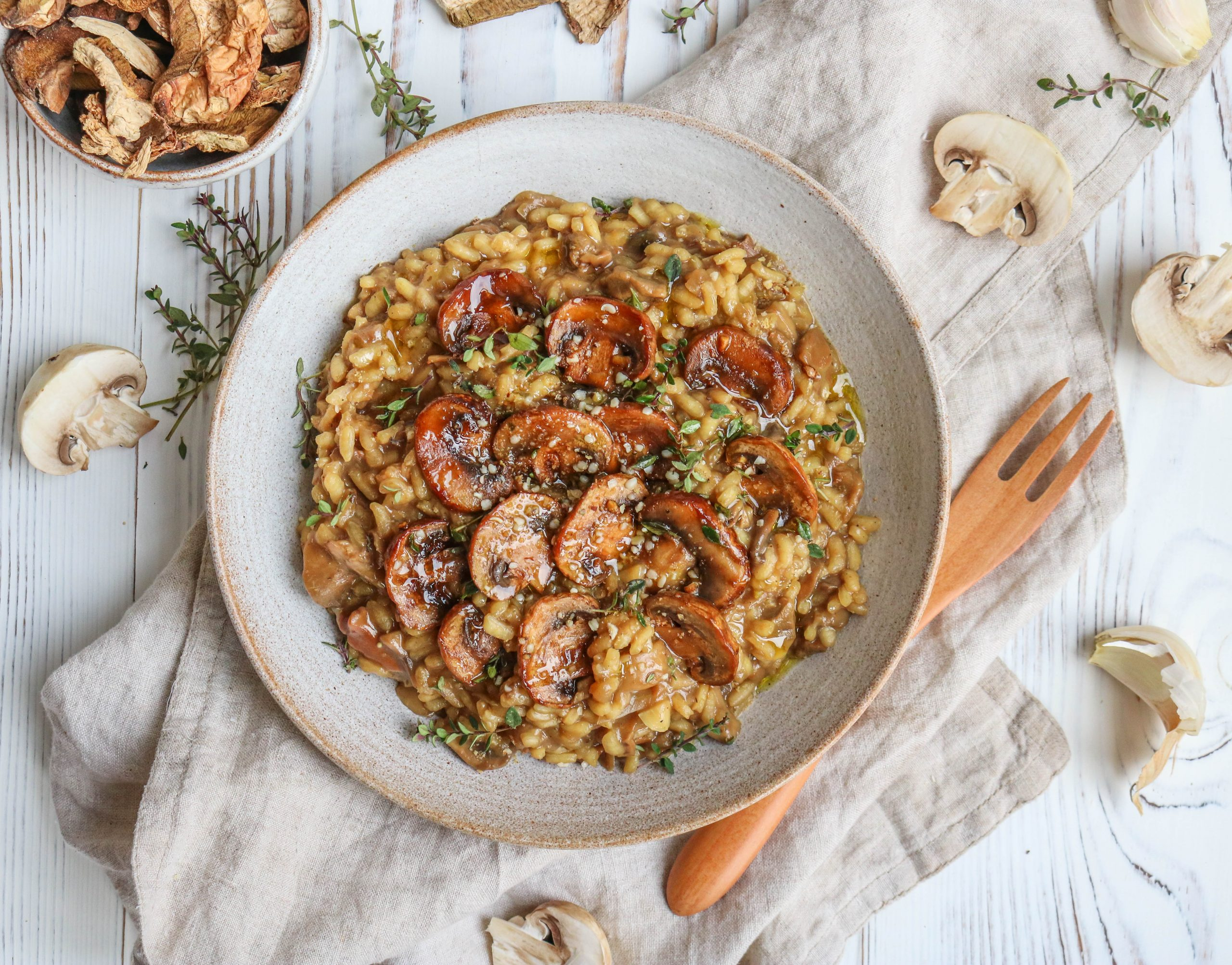 Porcini Mushrooms Risotto