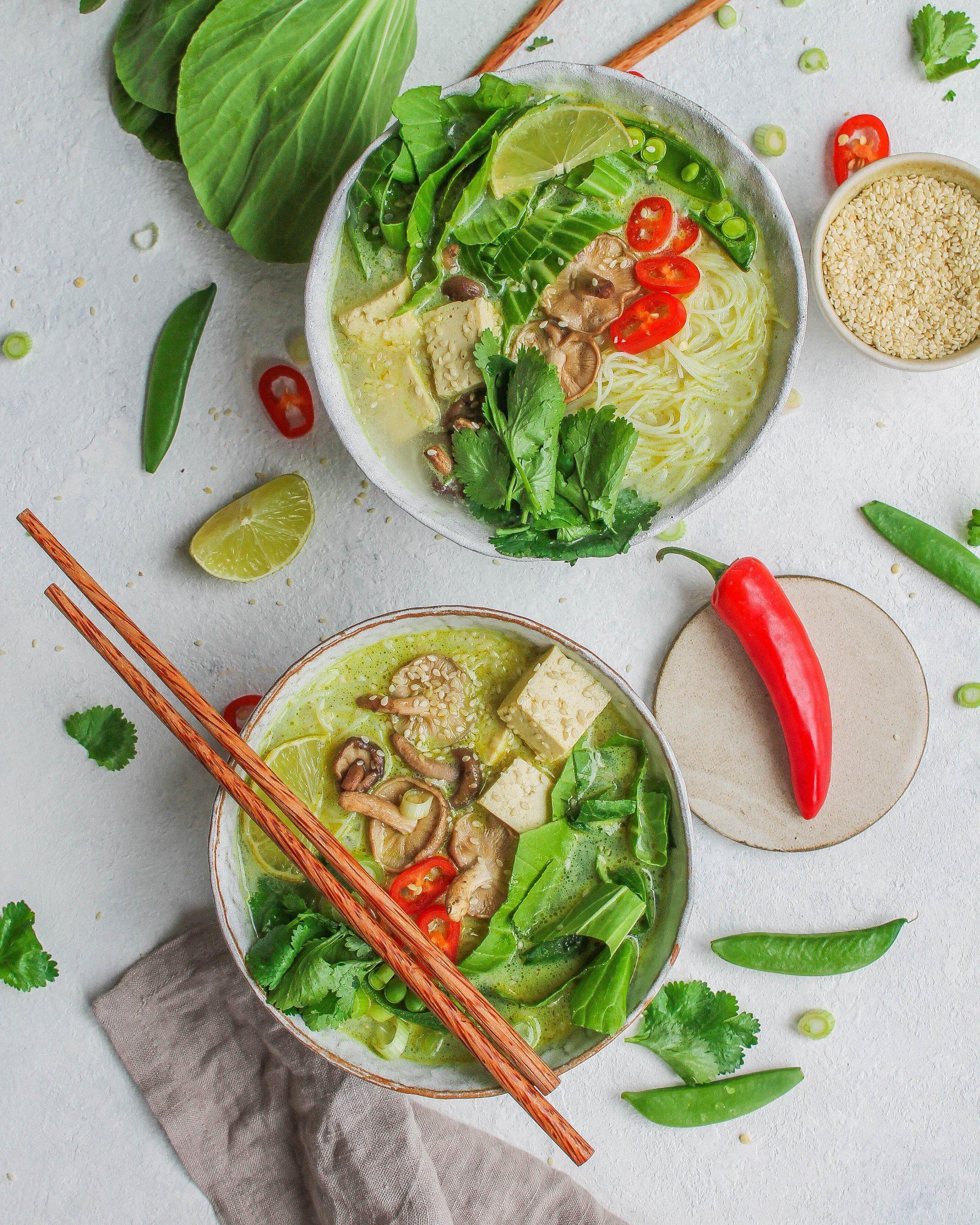 Thai Green Coconut Noodle Soup