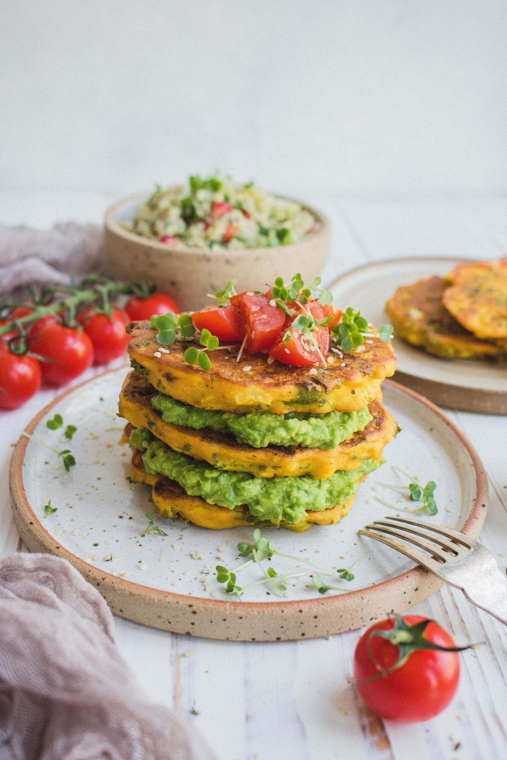 Cauliflower and Kale Fritters