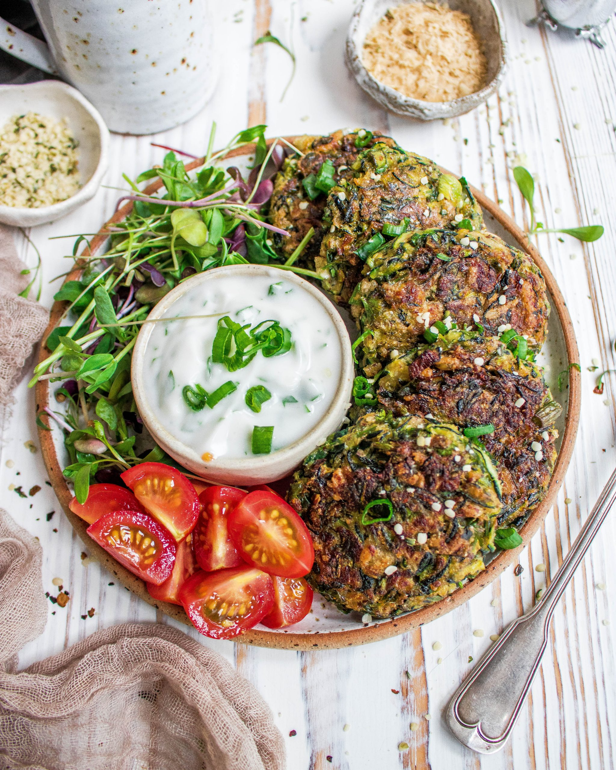 Courgette Yam Fritters