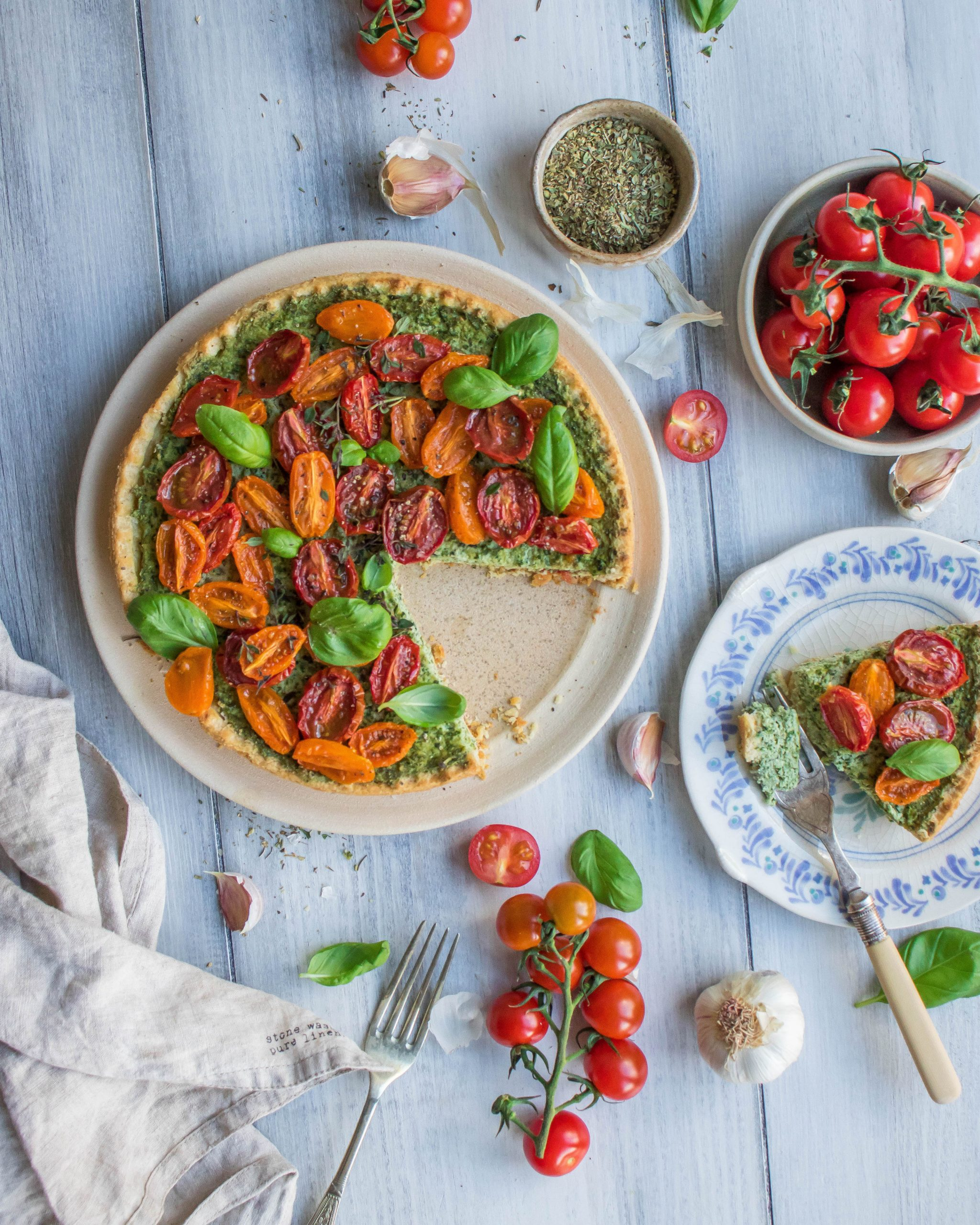 Kale & Cherry Tomato Tart