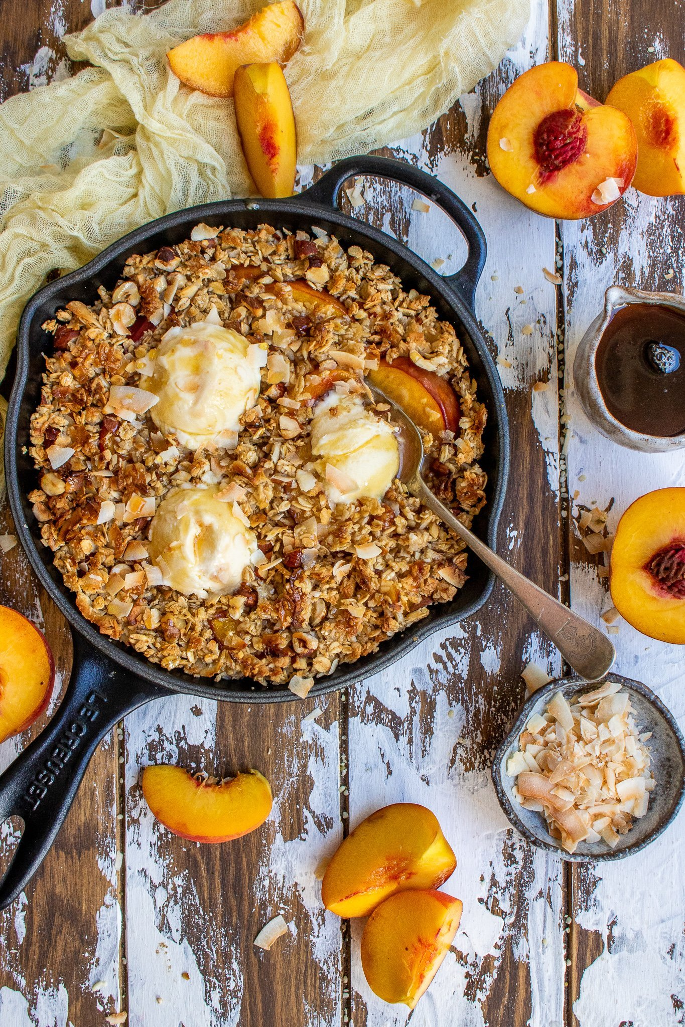 Peach & Coconut Crumble