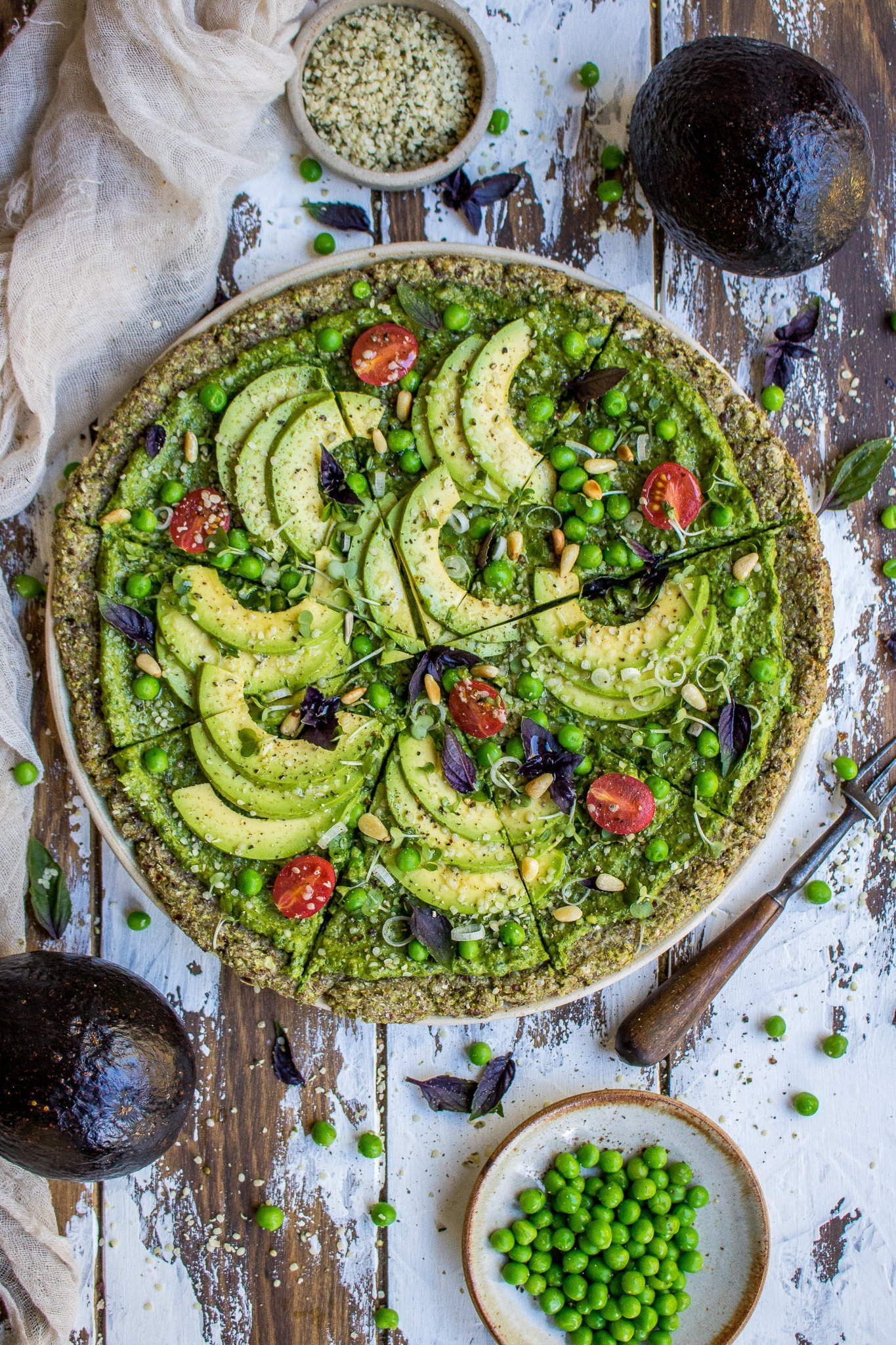 Super Green Avocado Pizza