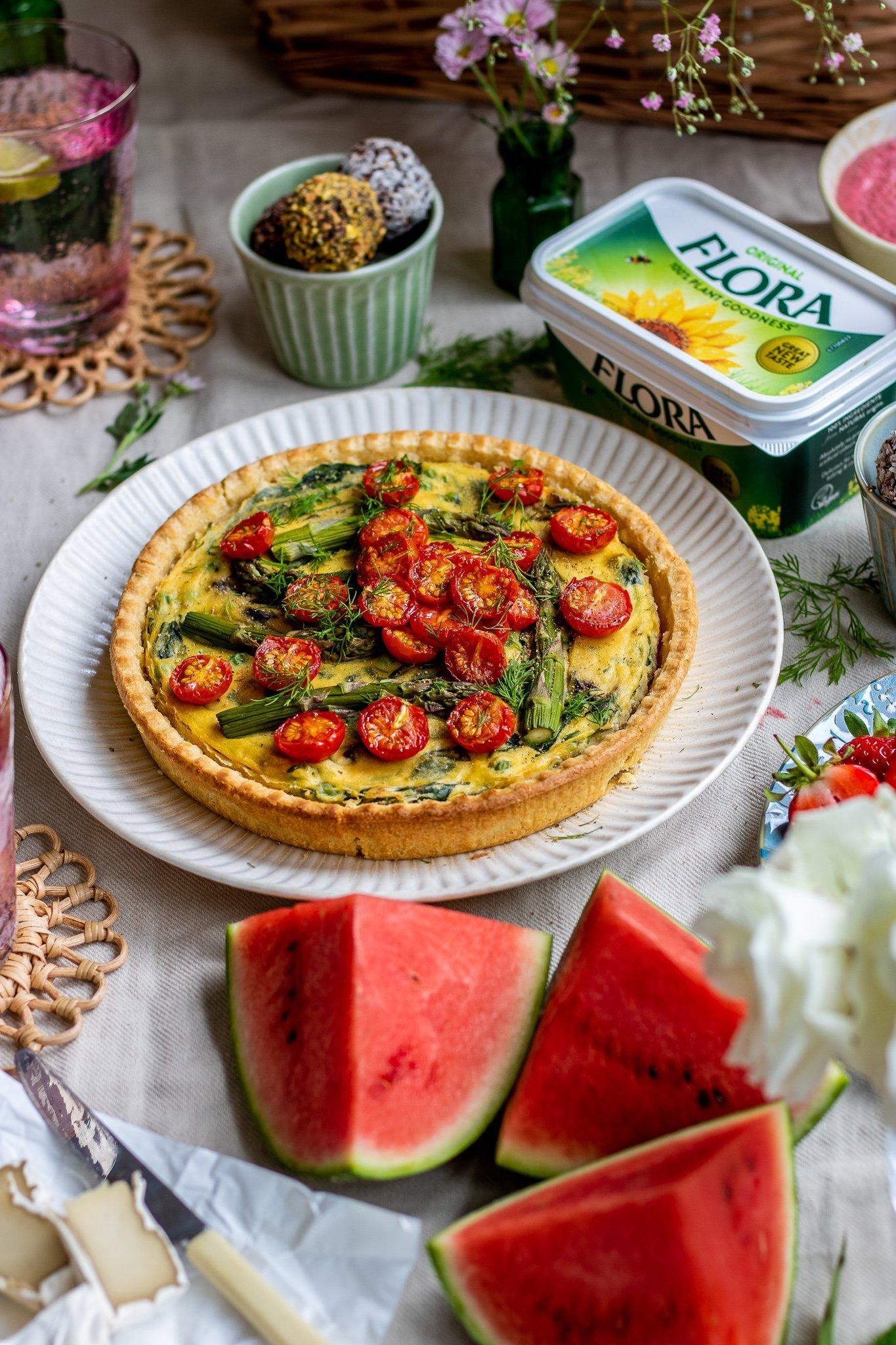 Asparagus & Pea Quiche