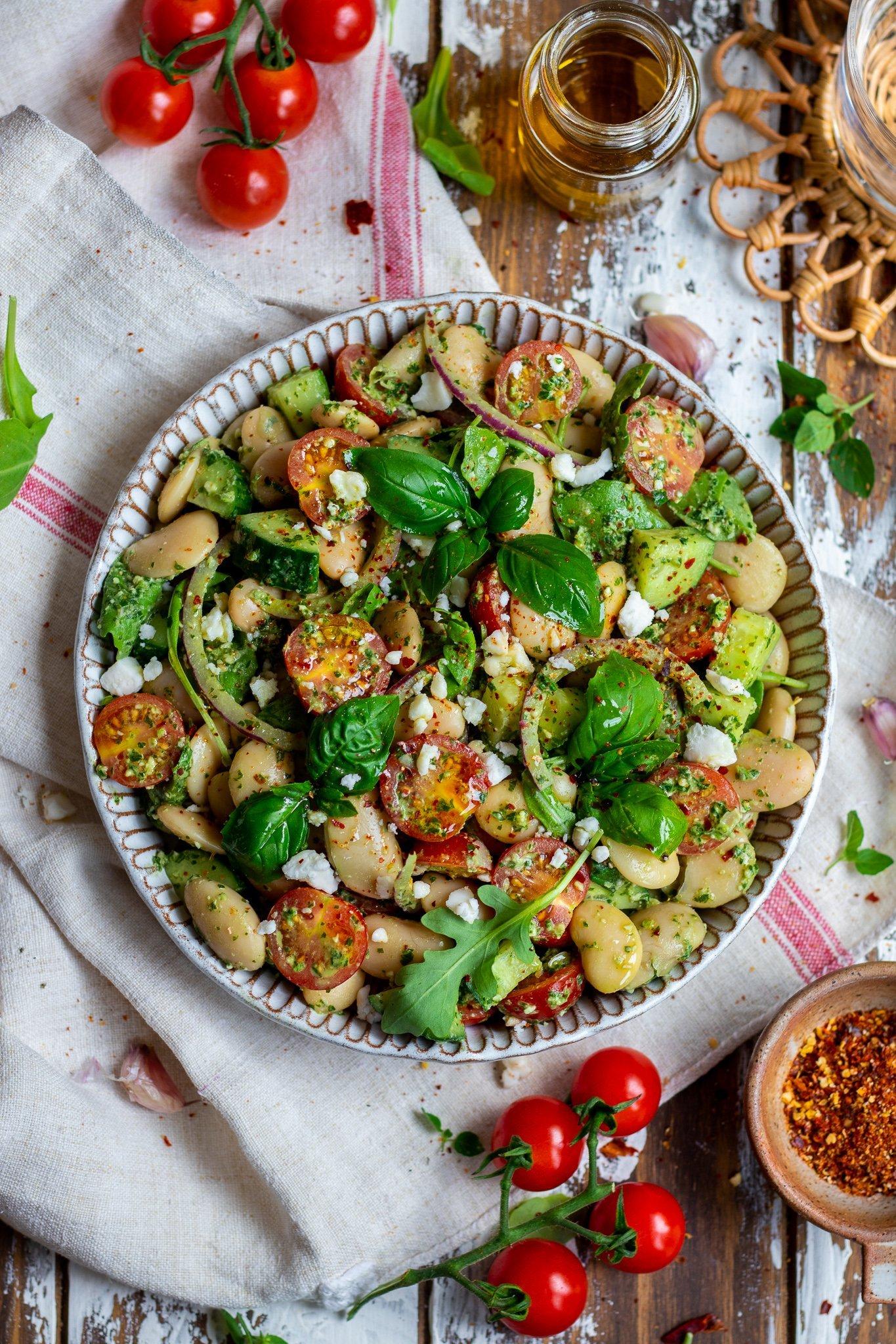 Butter Beans Pesto Salad
