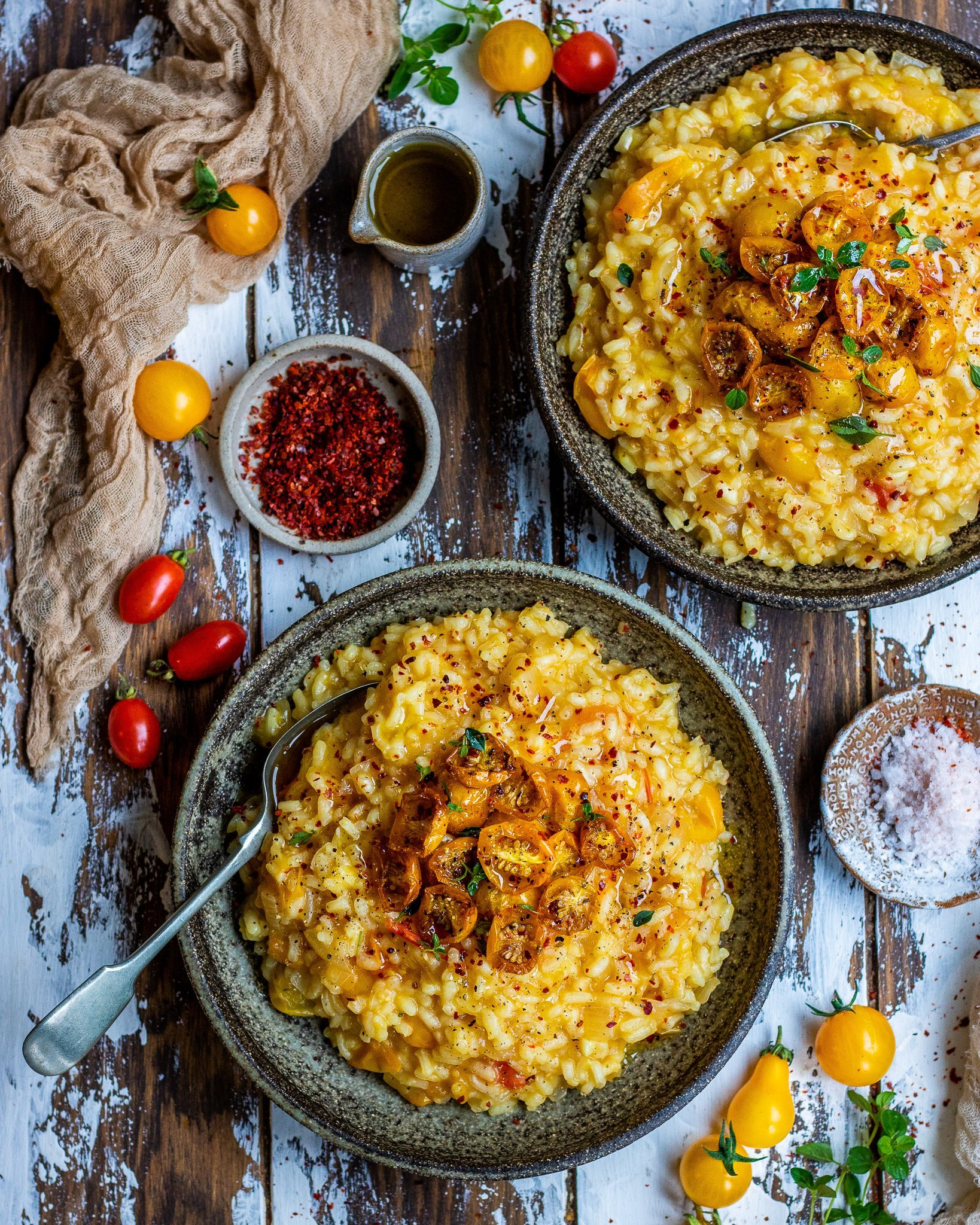 Golden Tomato Risotto
