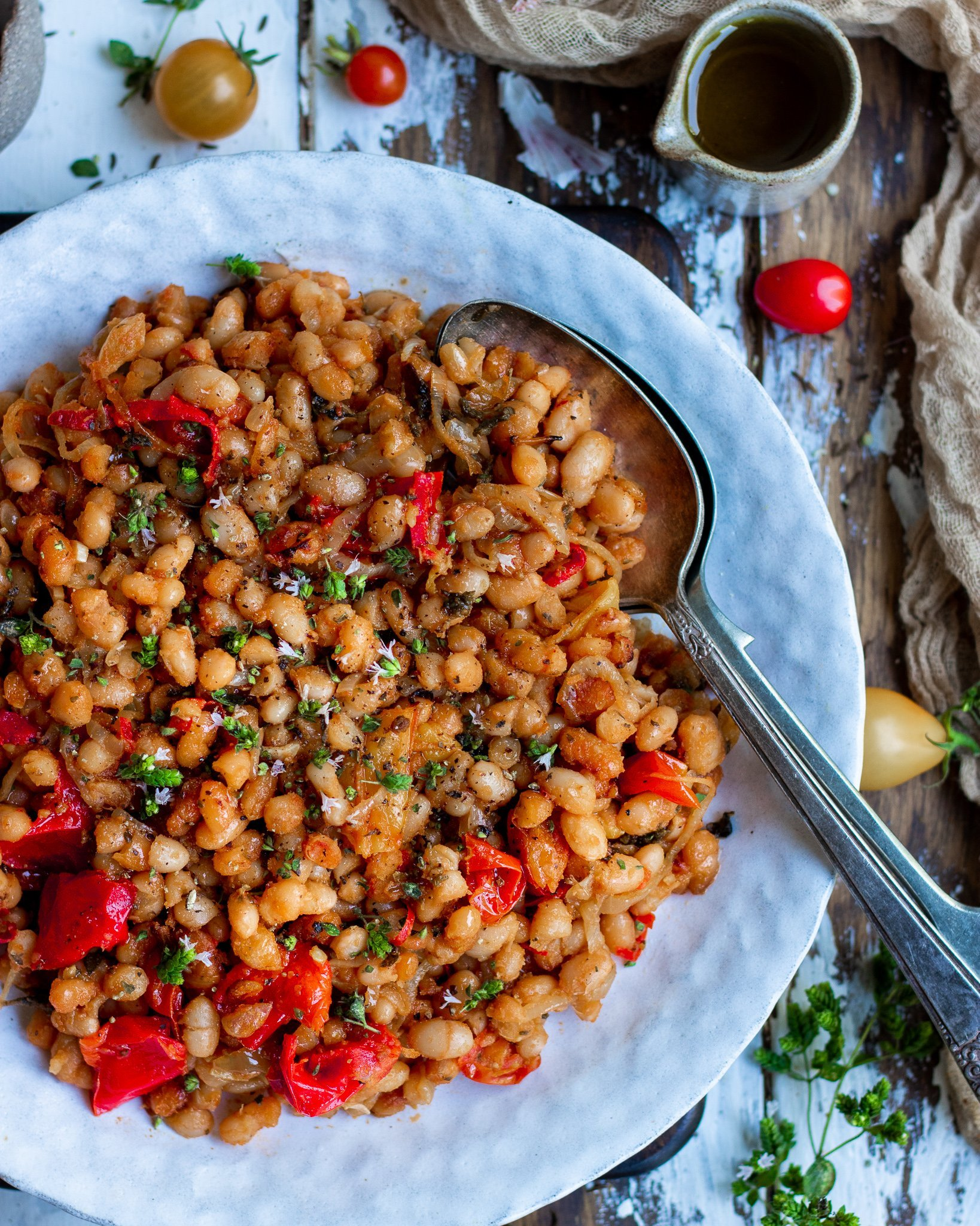 Summer Roasted White Beans