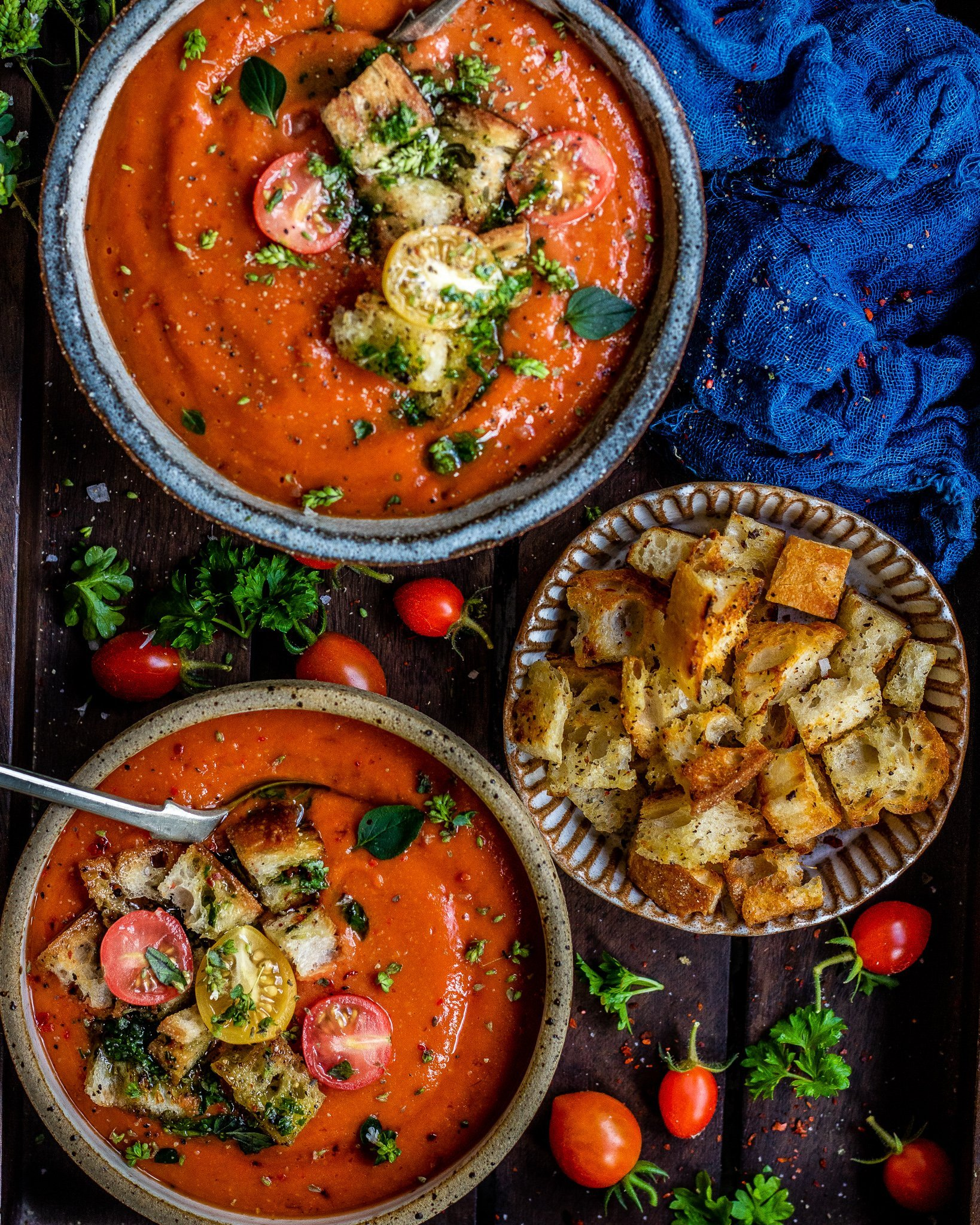 Oven Roasted Pepper & Tomato Soup