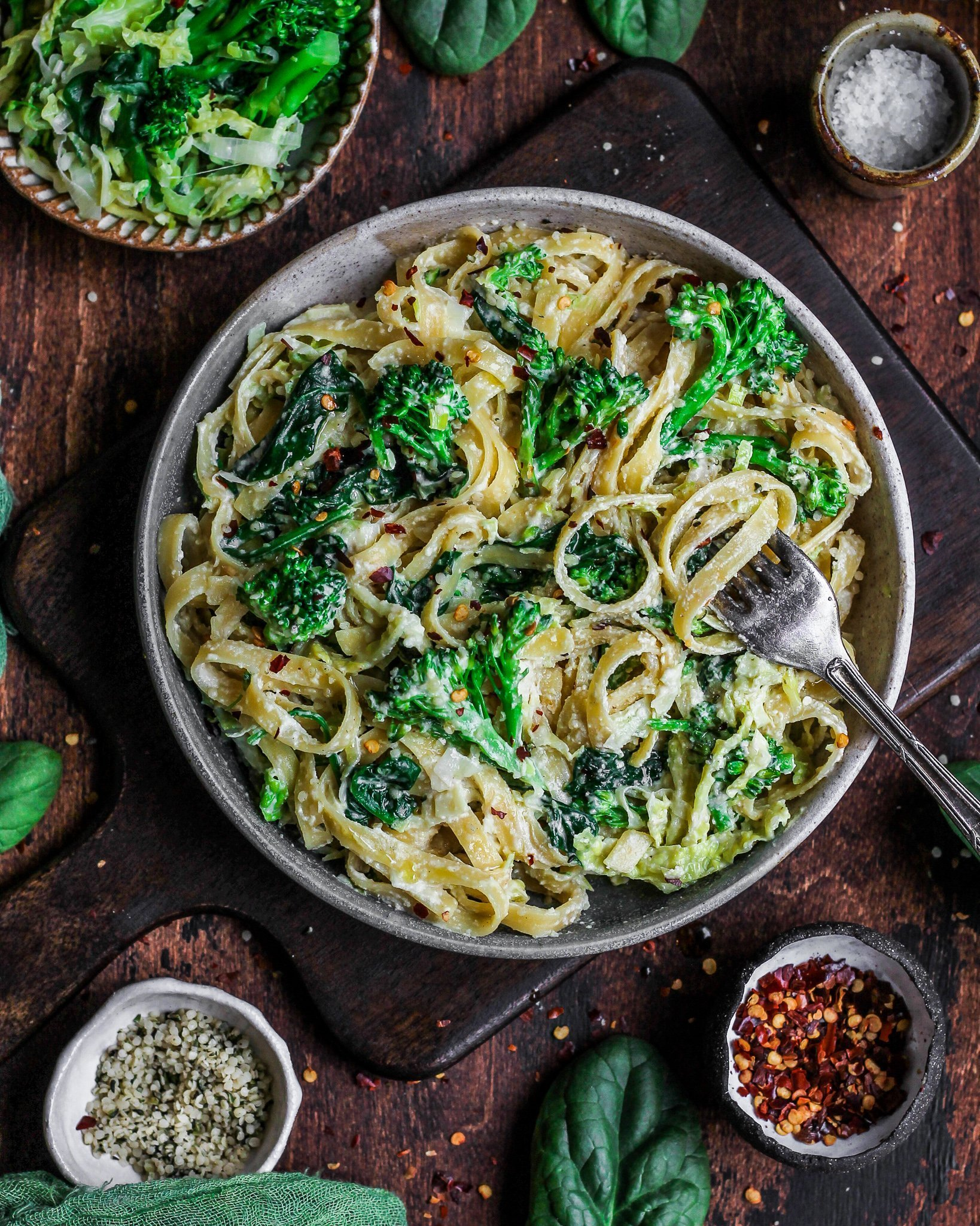 Winter Greens Cheesy Pasta