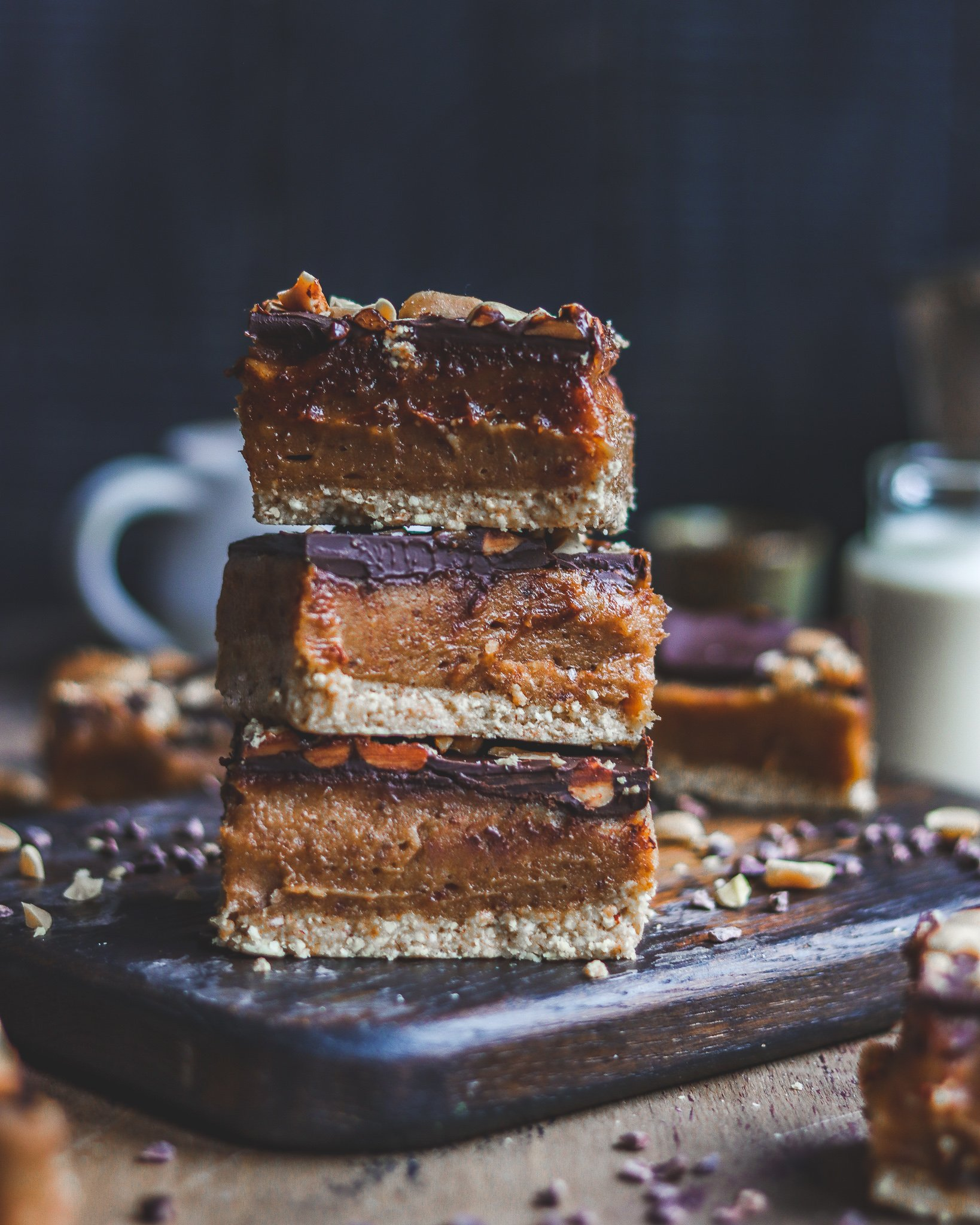 Salted Peanut & Chocolate Bars