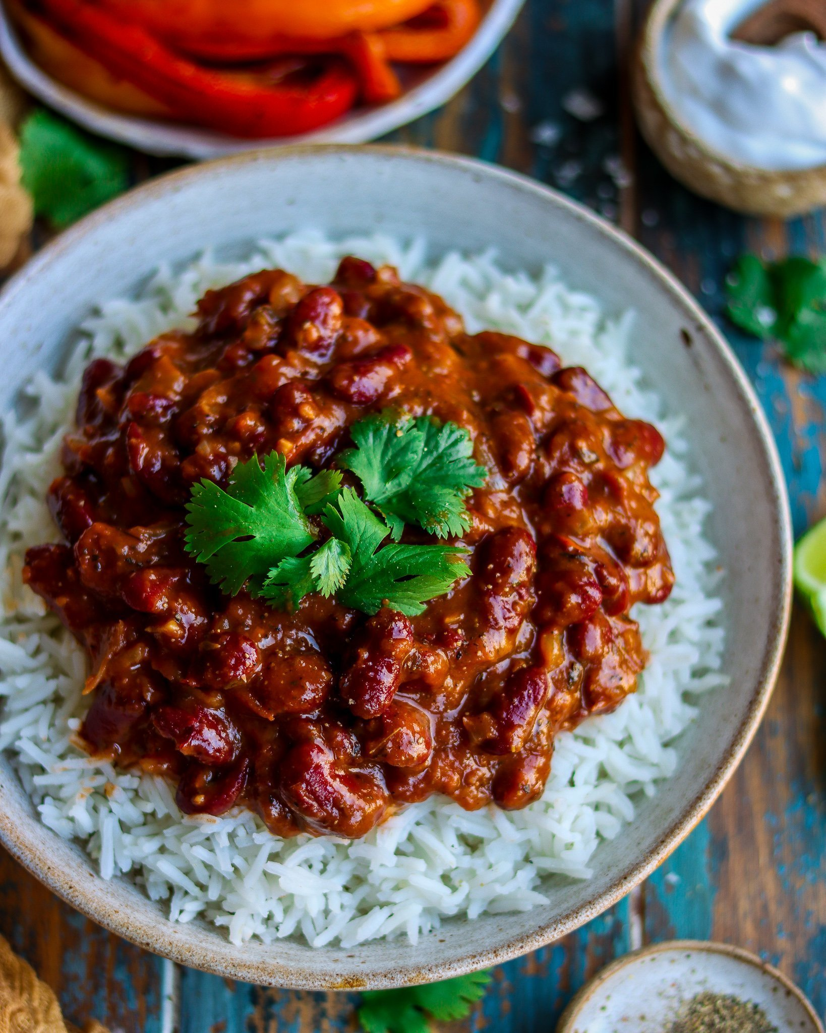 Smoky Caribbean Style Kidney Beans