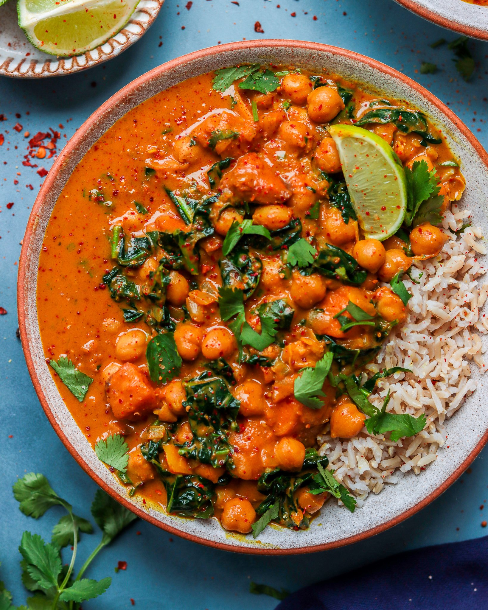 Chickpea, Butternut Squash & Kale Curry