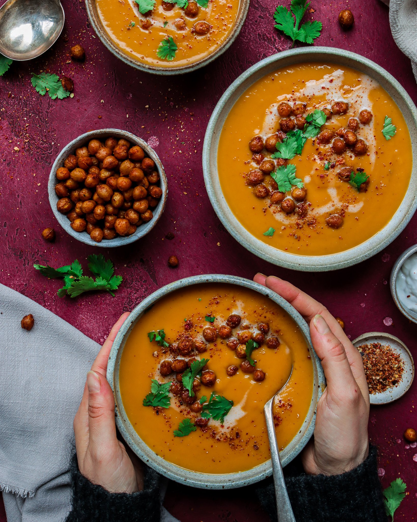Red Thai Curry Sweet Potato Soup