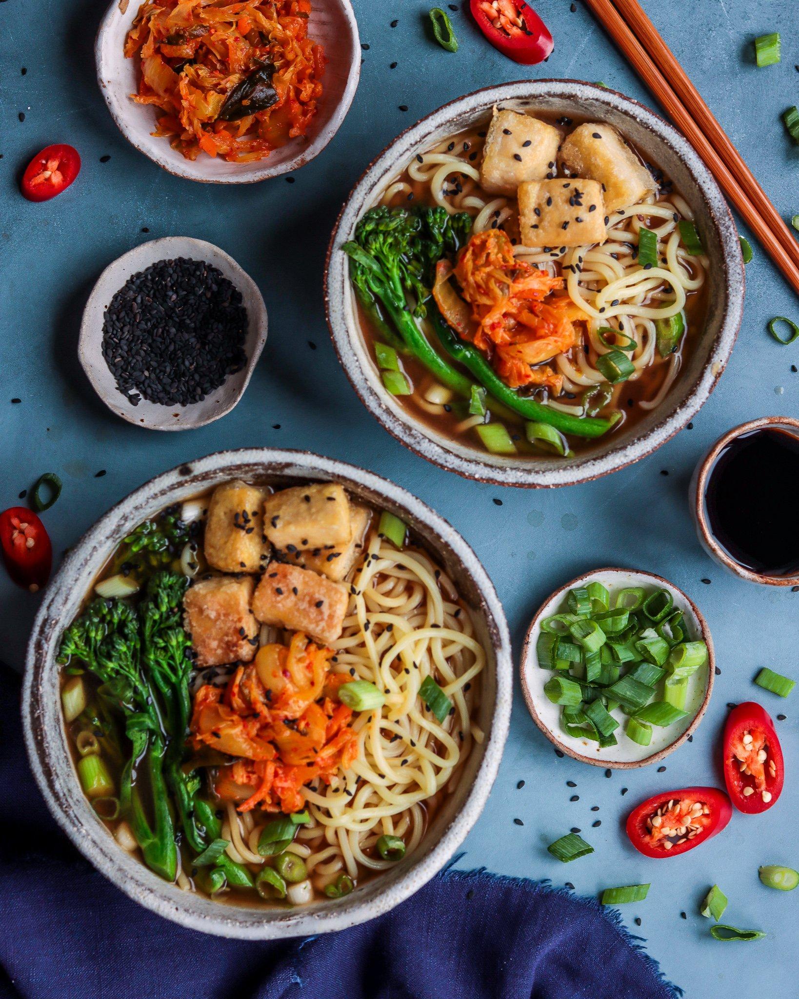 Easy Ramen with Crispy Tofu